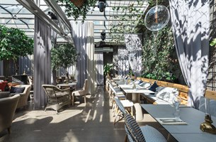 Dining areas in the backyard