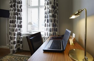 Workplace in hotel room