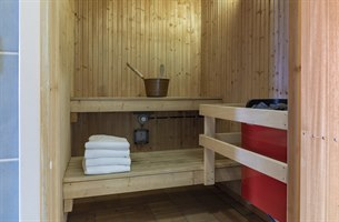 deluxe family room with sauna