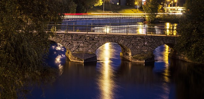 Dalslands canal by night
