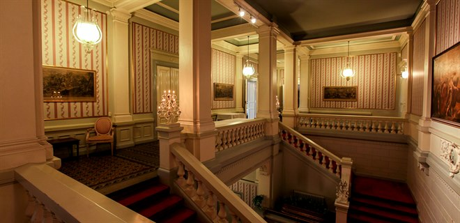 stairs to banquet hall