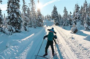 Children cross country skiing in Lillehammer